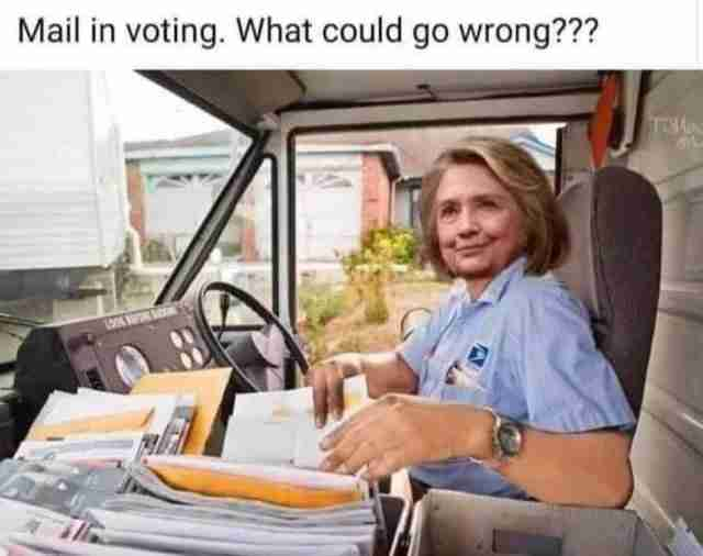 USPS assist mail-in ballots ballot fraud with the help of Hillary Clinton at the wheel.