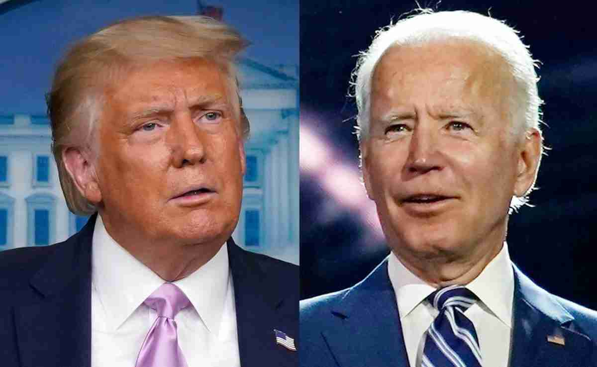 Who is winning the 2020 election? Photo of the two candidates.